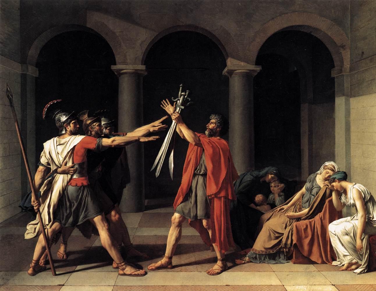 Resultado de imagen de blogspot, Jacques-Louis David (1748-1825), juramento de los horacions