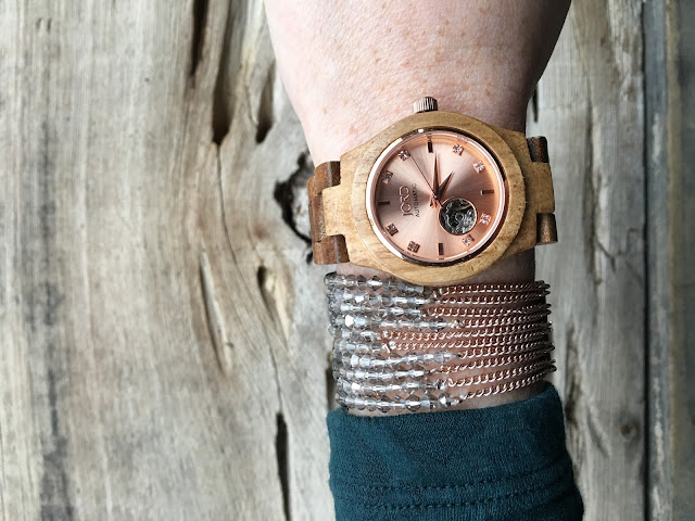 JORD Koa Rose Gold Women's Watch