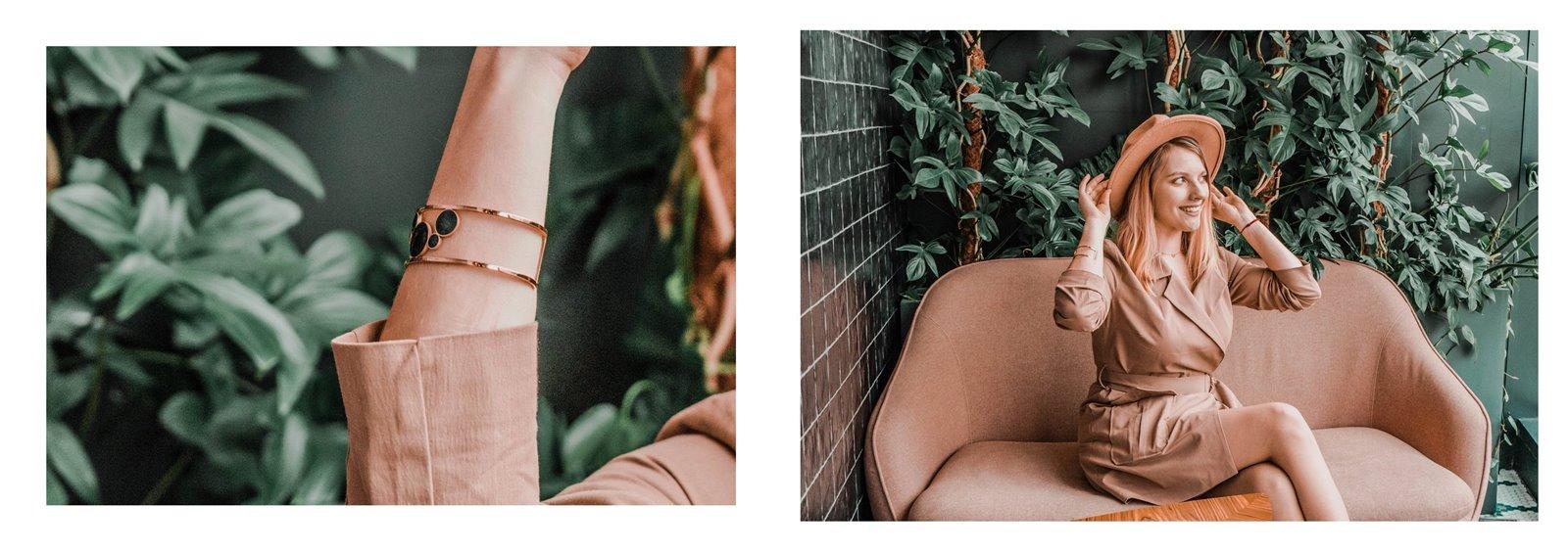 2a nakd sukienka julia wieniawa kolekcja ubrań cena gdzie kupić sukienka trendy na wiosnę 2019 sukienka o kroju płaszcza jak nosić kapelusz złota biżuteria apart torebka asos outlet satisfashion ocena jakość opinie łódź