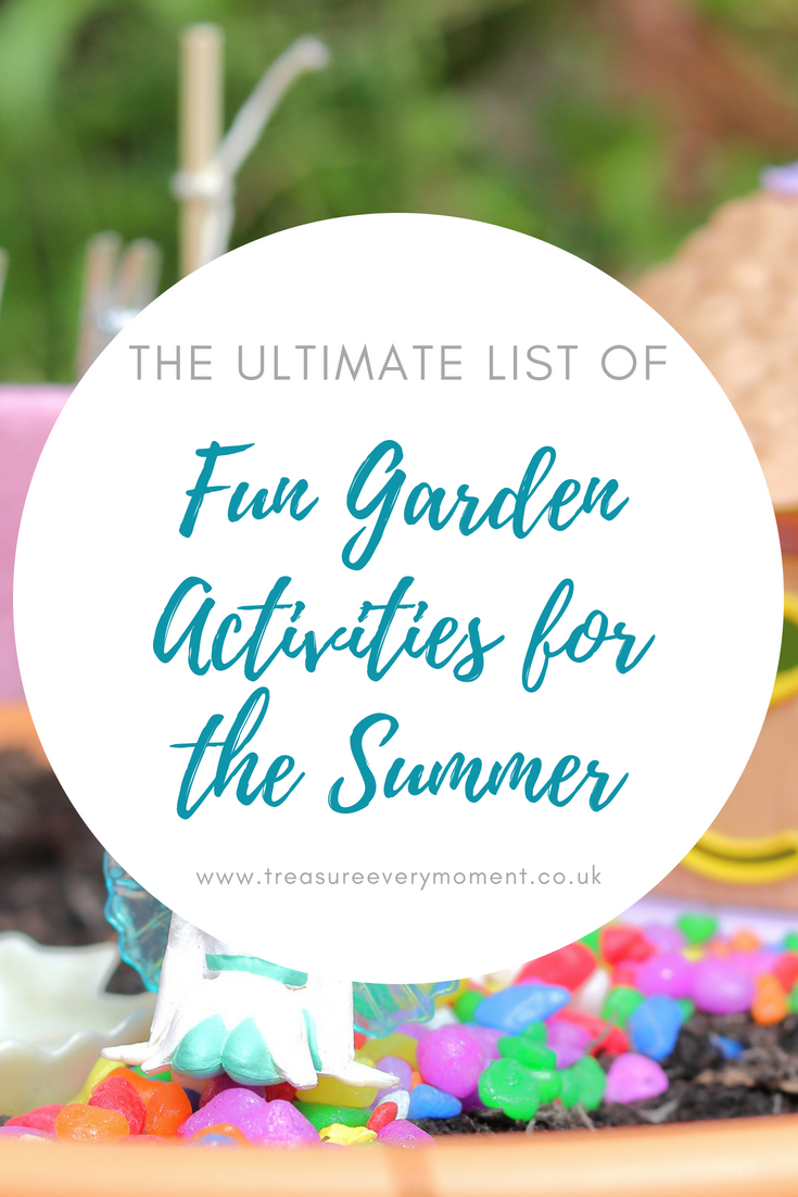 CHILDREN: The Ultimate List of Fun Garden Activities to do this Summer