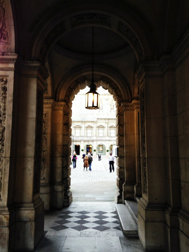 Archway entrance to the royal academy