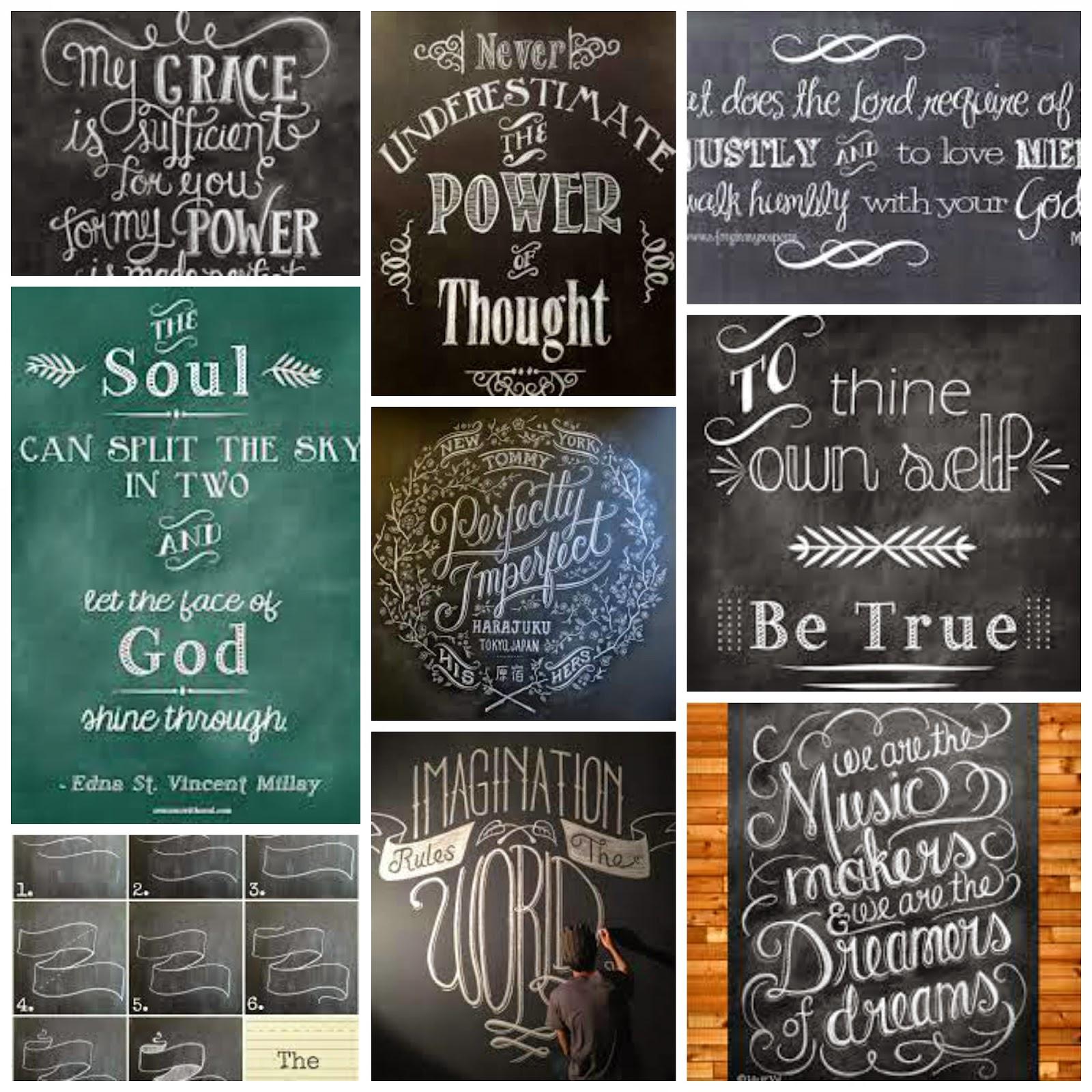 Blackboard Artwork Ideas