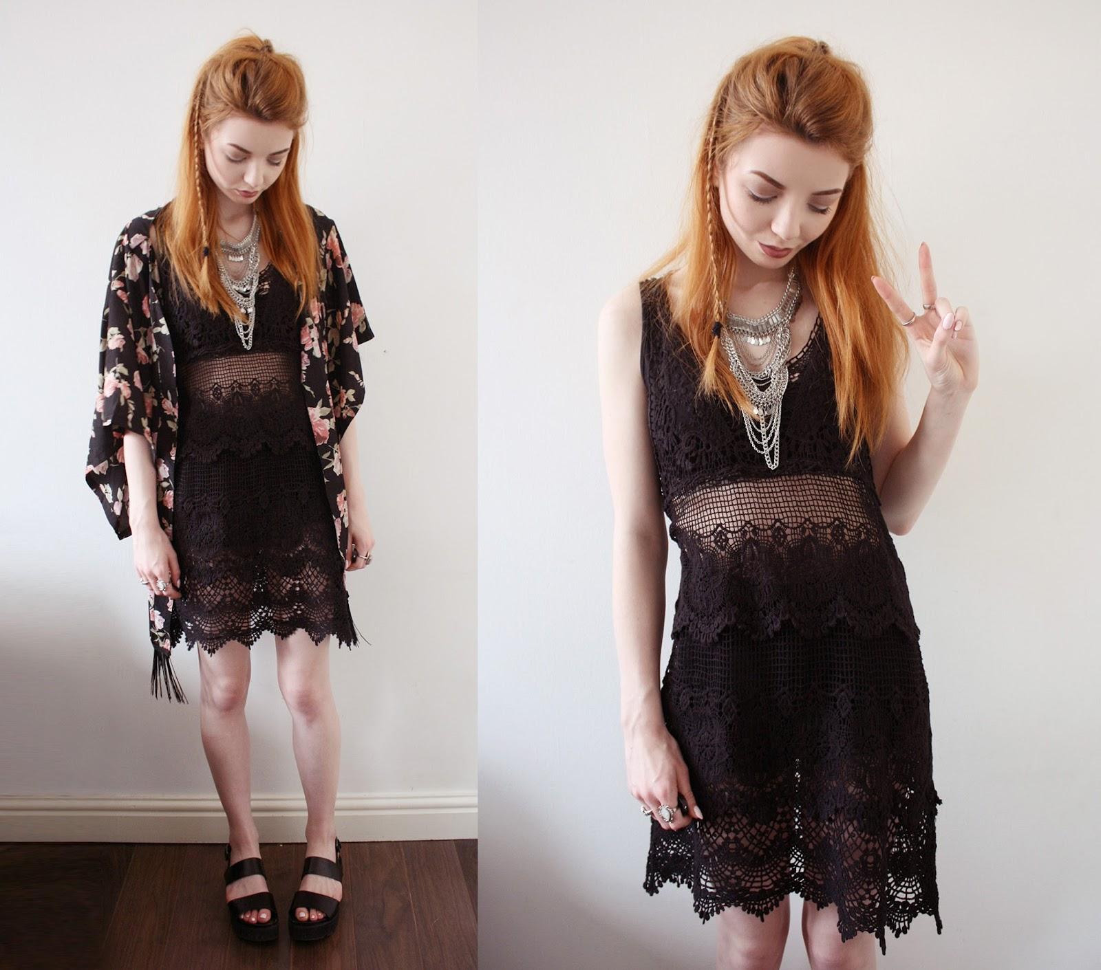 feb1e723b9f32 Dress – New Look* | Sandals – New Look* | Kimono – Missguided* | Necklace –  Primark