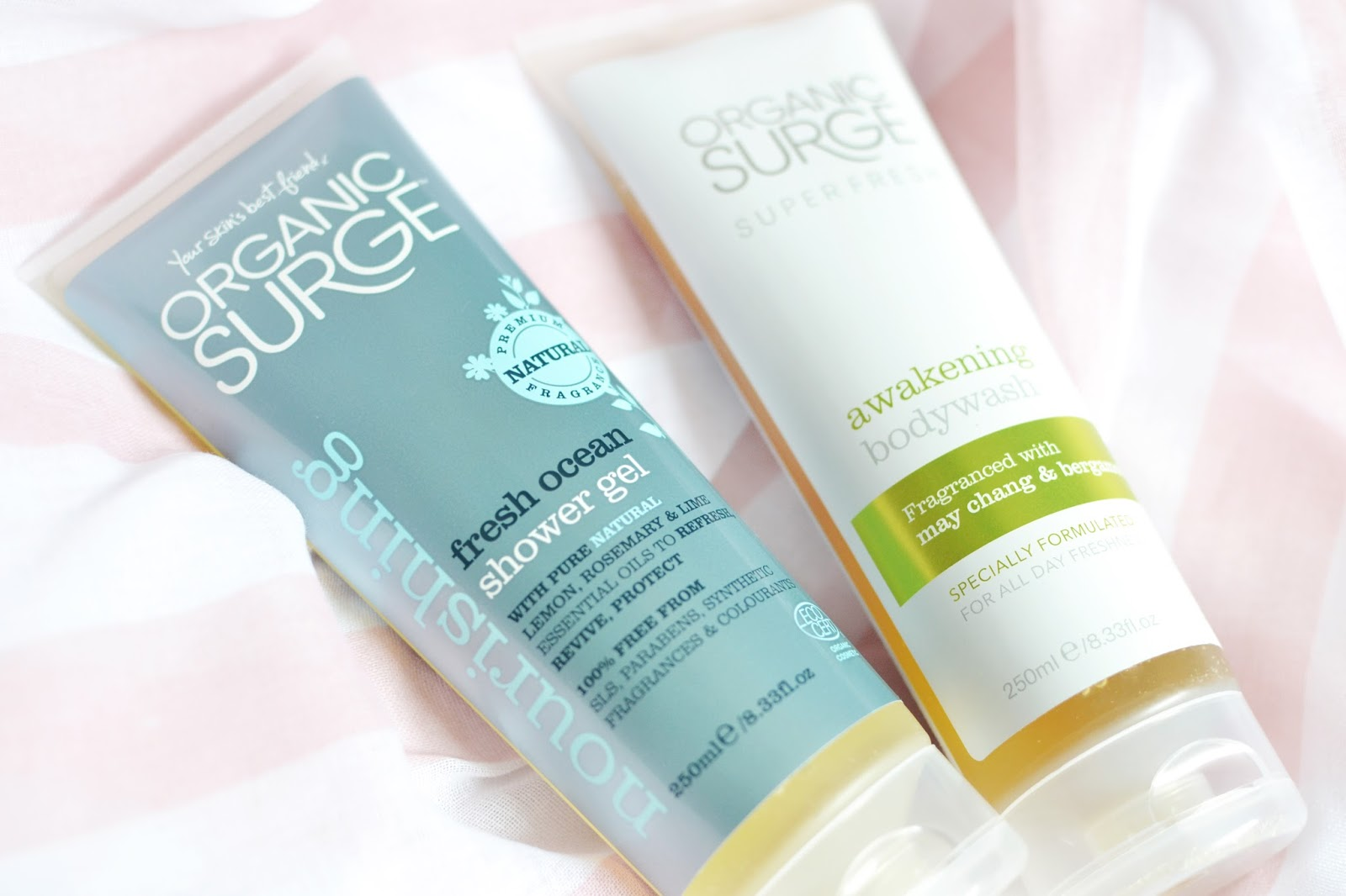 shower gels for dry skin, Organic surge products, organic surge review, natural and organic beauty products