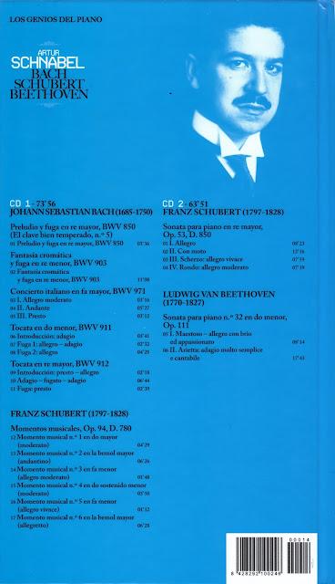 Genios del Piano-14-Artur Schnabel-trasera