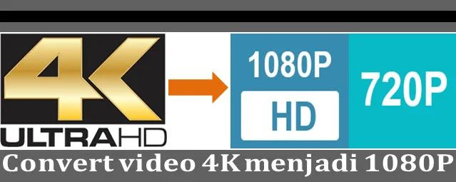 Pada cara ini kami akan share cara convert video  Cara convert video 4k menjadi 1080P full HD