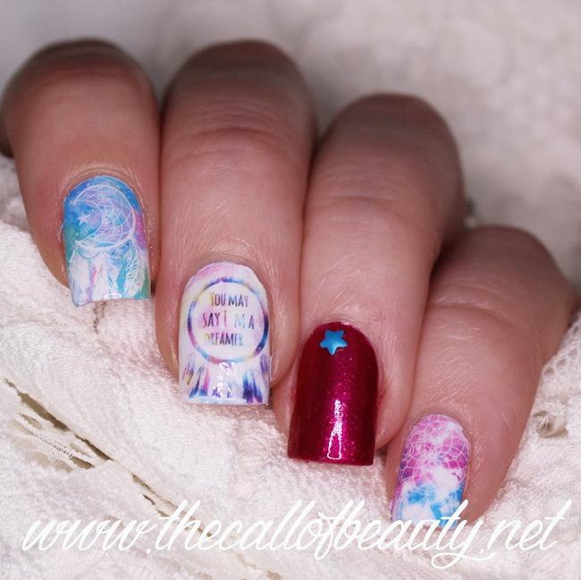 Watercolor Dreamcatcher Manicure