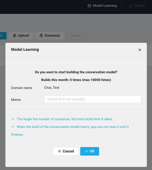 Learn Model Button