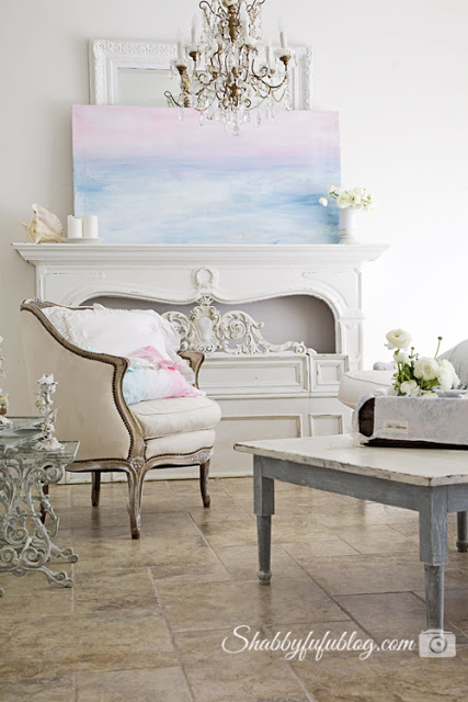 french shabby chic living room