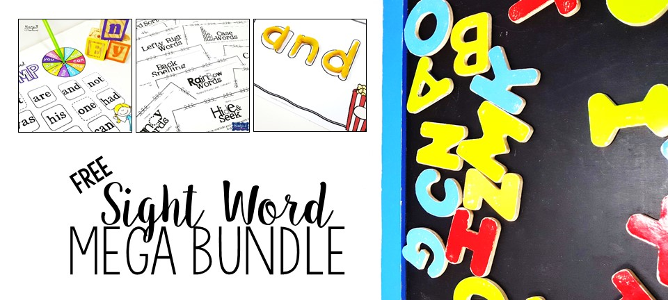 Free sight word mega bundle!! It includes over 75 pages of games, practice sheets, playdough mats and more.