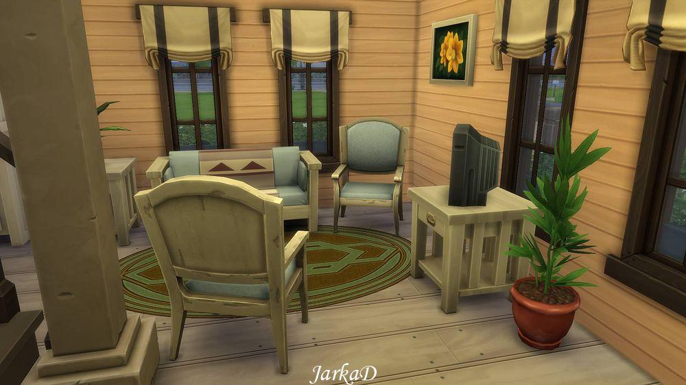 กระท่อมกลางป่า The Sims 4 house The Sims 4