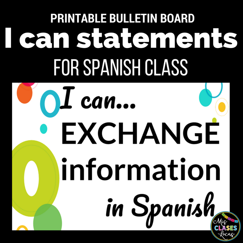 Quick Tip: I CAN statements for Spanish class - Mis Clases Locas