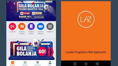 progressive webapp lazada