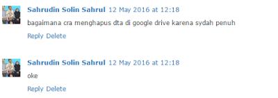 """Cara menghapus Data di Google Drive"""