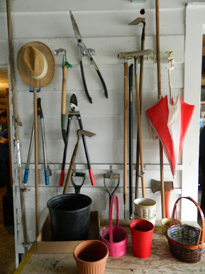 Sunnybrook McLean House greenhouse hanging garden tools by garden muses-not another Toronto gardening blog