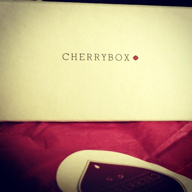 Cherry box closeup, κοντινή φωτογραφία