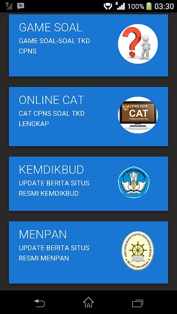 Aplikasi Latihan Soal CAT CPNS Gratis Untuk Android