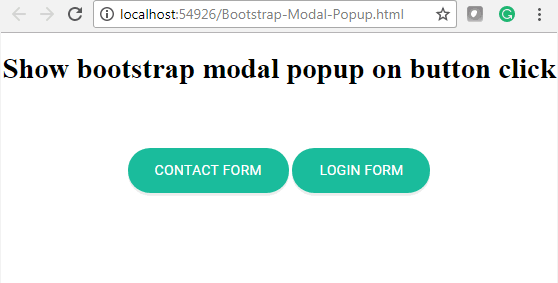 Dot Net Tricks and Tips: Show Bootstrap Modal Popup on