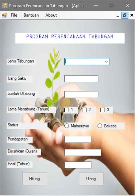 program menghitung tabungan
