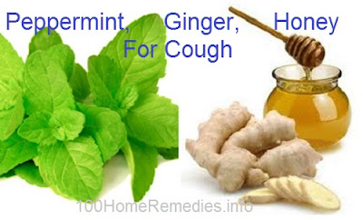 Ginger, peppermint and Honey for cough relief.