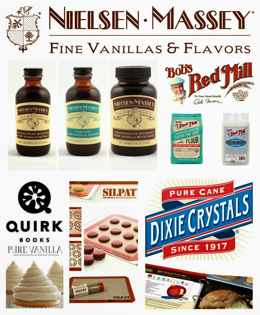 Get entered to win the ultimate vanilla baking prize package that includes goodies from Nielsen-Massey Vanillas, Bob's Red Mill, Silpat, Quirk Books and Dixie Crystals/Imperial Sugar, Ends 2/8/15 #VanillaWeek