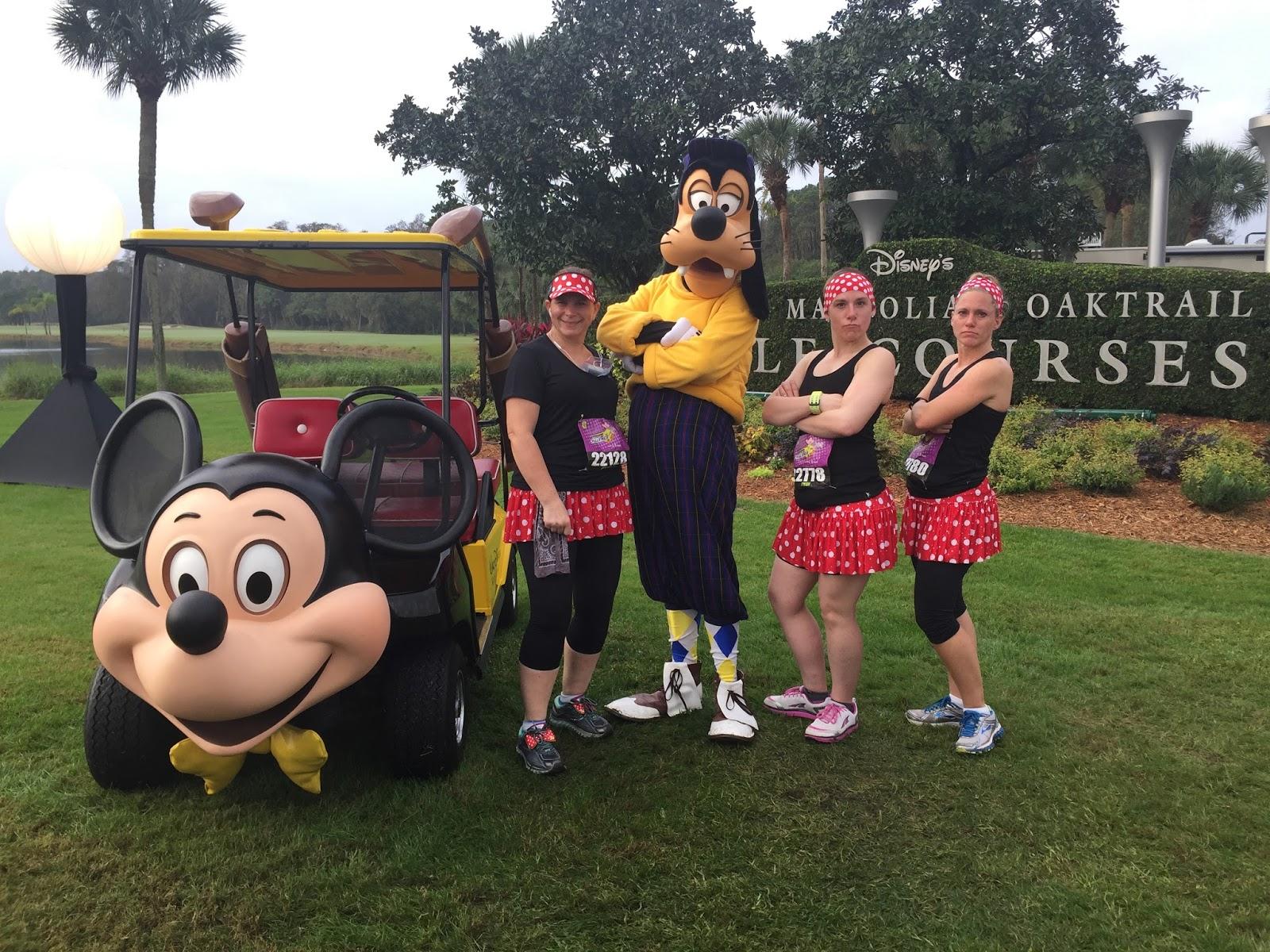Dopey Challenge Mickey Marathon 2016 Us with Golf Goofy
