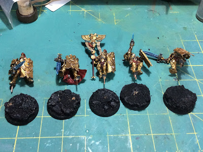 WIP Adeptus Custodes or Custodian Guard with bases