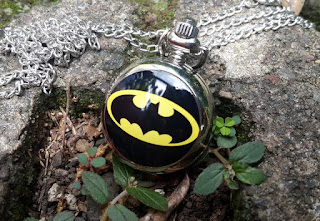 Jam Saku Antik Super Hero Batman P785 Stainless Steel With Necklace Chain
