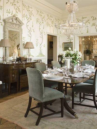 wallpaper in dining room 2017 - Grasscloth Wallpaper