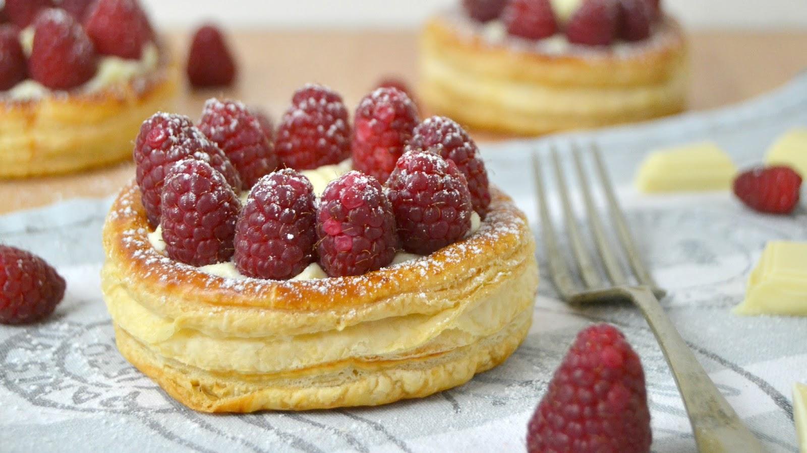 Tartaletas de chocolate blanco y frambuesas cuuking recetas de cocina - Postre para san valentin ...