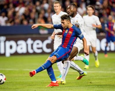 Munir ghi bàn ở Siêu cúp TBN gặp Sevilla