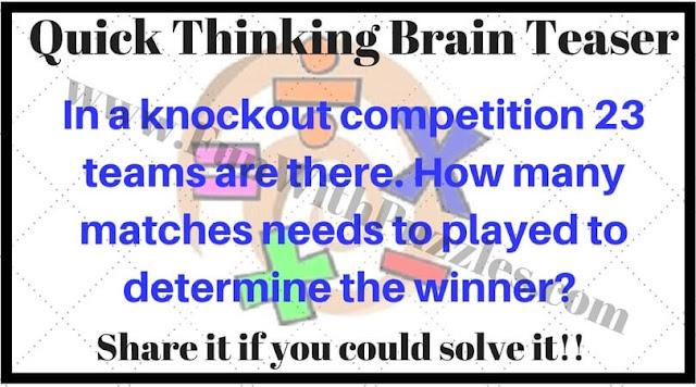 Quick Thinking brain teaser