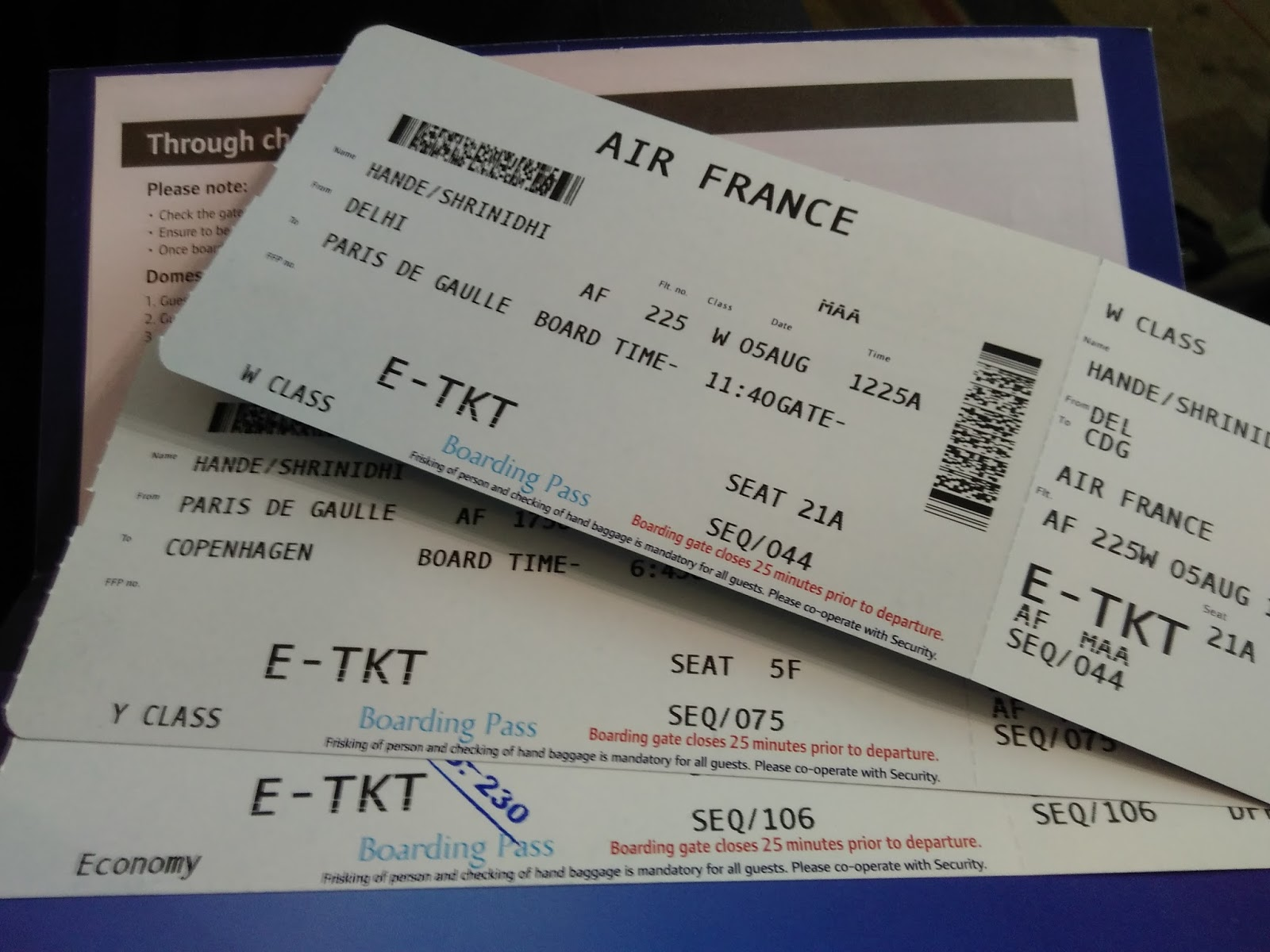 Air France Premium Economy Detailed Experience Enidhi India