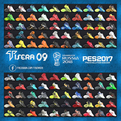 PES 2017 BootPack v9 World Cup 2018 Edition by Tisera09 ( 100 Boots )