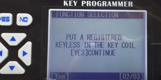 Mettez un keyless enregistré