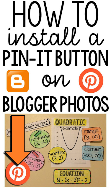 How to install a Pin-it Button on Blogger photos