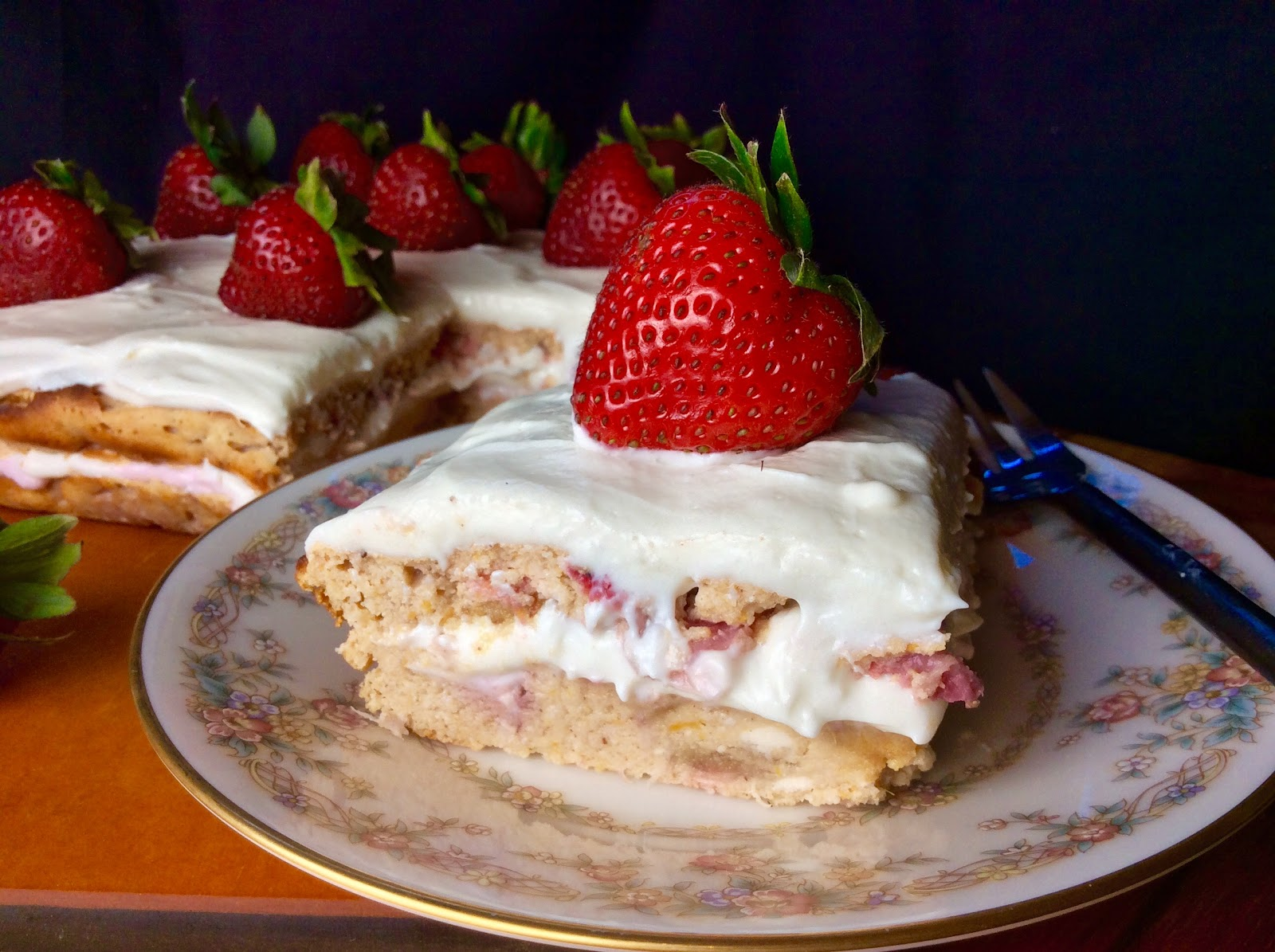 Food Fitness By Paige Strawberry Cream Cheese Cake