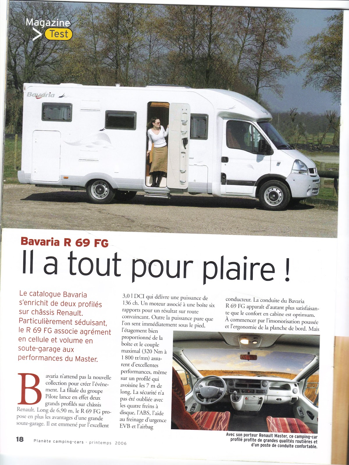 camping car bavaria r69 bavaria article magazine. Black Bedroom Furniture Sets. Home Design Ideas