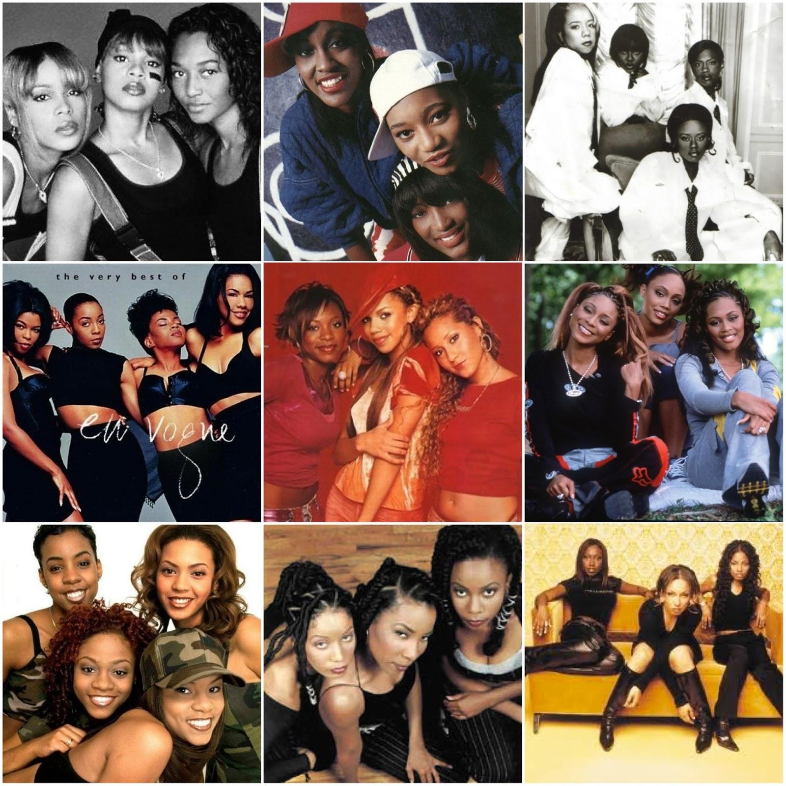 Groupes De Filles Noires Dans Les Années 90
