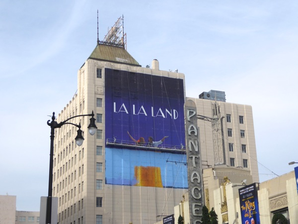 Giant La La Land movie painted billboard
