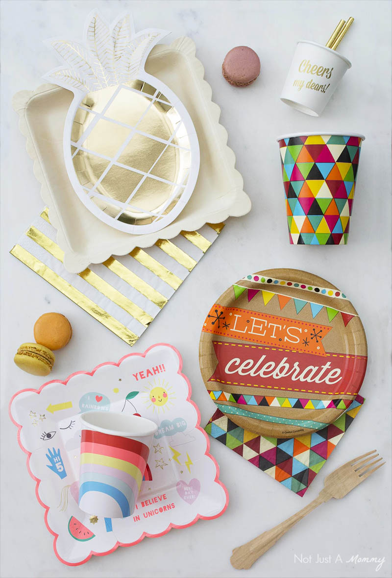 Pretty and disposable party products from paper and other sustainable sources
