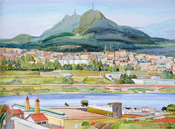"""Obra """"Pico do Jaraguá"""" (1999), de Gladys Maldaun. Foto: Antonio Reginaldo Canhoni/FPMSCS"""