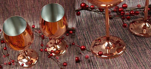 A review of VonShef Set of 2 Stainless Steel Copper Wine Glasses