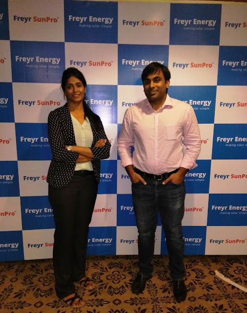 Ms. Radhika Choudary, Co-Founder & Director and Mr. Saurabh Marda, Co-Founder and Managing Director of Freyr Energy