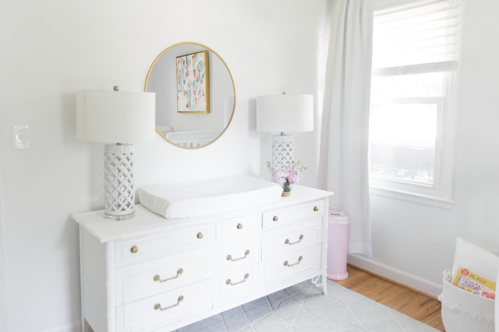 reveal magical o sydney dresser nursery featuring polka wildflower dot whimsical s lotus room c beautiful ceiling havenly baby fatale fab girl babygirlnurserylandofnodgoldknobsdresser a