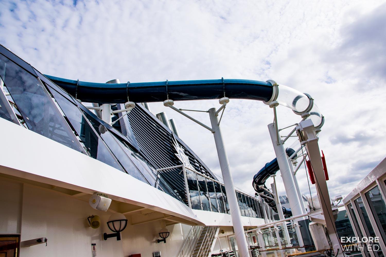 MSC cruise ship water slides