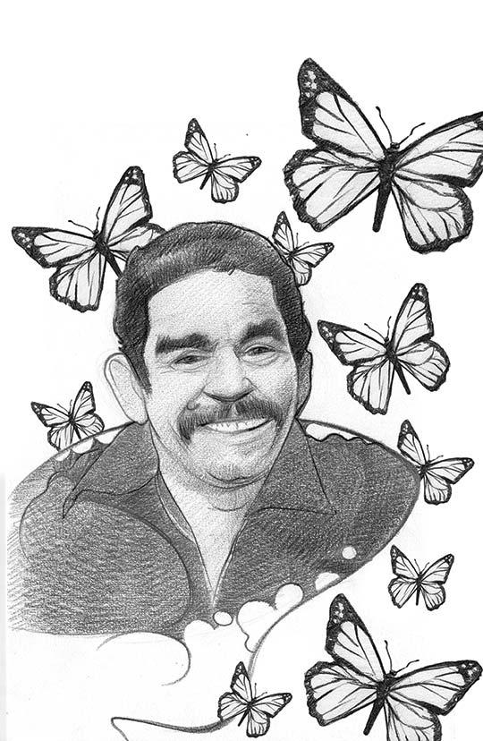 Retrato de Gabriel García Márquez por Marco Pinto