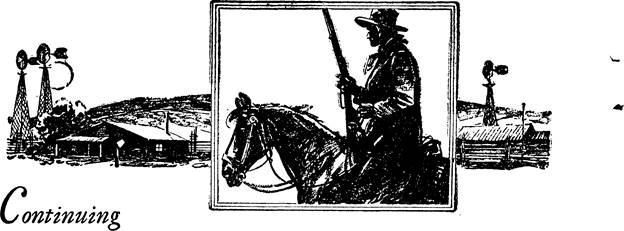 Illustration for Adventure, May 15 1933 - Rifled Gold by W. C. Tuttle