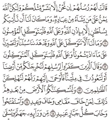 Tafsir Surat Ibrahim Ayat 11, 12, 13, 14, 15