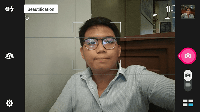 Selfie interface